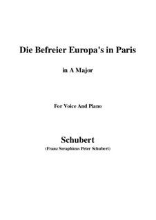Освободители Европы в Париже, D.104: Ля мажор by Франц Шуберт