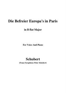 Освободители Европы в Париже, D.104: B flat Major by Франц Шуберт