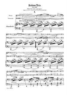 Фортепианное трио No.3 соль минор, Op.110: Партитура by Роберт Шуман