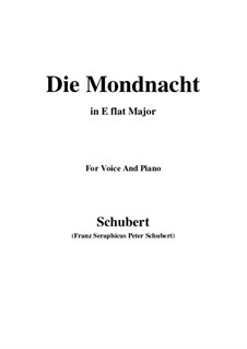 Die Mondnacht (The Moonlit Night), D.238: E flat Major by Франц Шуберт