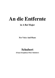 An die Entfernte (To the Distant Beloved), D.765: A flat Major by Франц Шуберт