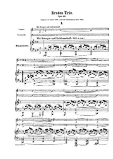 Фортепианное трио No.1 ре минор, Op.63: Партитура by Роберт Шуман
