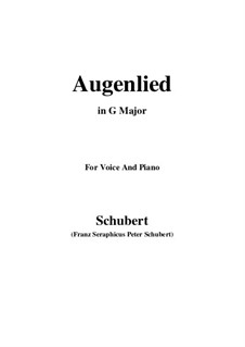 Augenlied (Song of the Eyes), D.297: G Major by Франц Шуберт