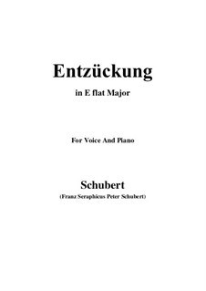 Entzückung (Rapture), D.413: E flat Major by Франц Шуберт