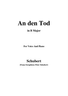 An den Tod (To Death), D.518: B Major by Франц Шуберт