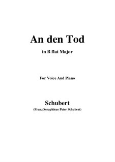 An den Tod (To Death), D.518: B flat Major by Франц Шуберт