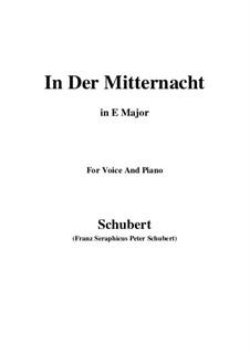 In der Mitternacht (At Midnight), D.464: E Major by Франц Шуберт