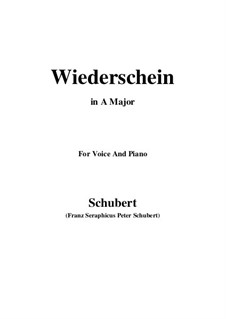 Wiederschein, D.639: Ля мажор by Франц Шуберт