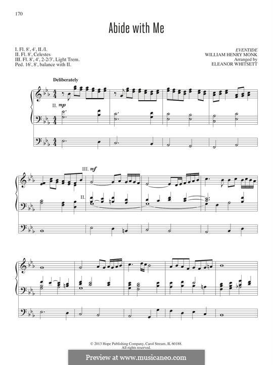 Пребудь со мной: Для органа by Уильям Генри Монк