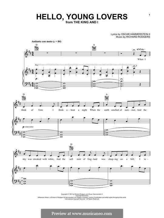 Hello, Young Lovers: Для голоса и фортепиано (или гитары) by Richard Rodgers