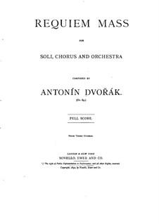 Реквием си-бемоль минор, B.165 Op.89: Часть I by Антонин Дворжак