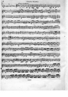 Три струнных квартета, Op.16: Скрипка II by Федериго Фьориллло