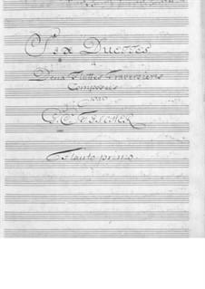 Шесть дуэтов для двух флейт: Шесть дуэтов для двух флейт by Иоганн Кристиан Фишер