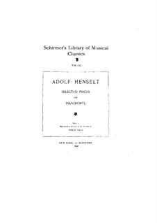 Избранные пьесы для фортепиано: Избранные пьесы для фортепиано by Адольф фон Хенсельт