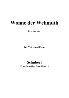 Сладость скорби, D.260 Op.115 No.2: A minor by Франц Шуберт