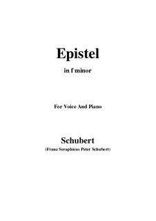 An Herrn Josef von Spaun. Assessor in Linz (To Mr. Josef von Spaun), D.749: F minor by Франц Шуберт