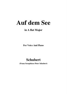 На озере, D.543 Op.92 No.2: A flat Major by Франц Шуберт