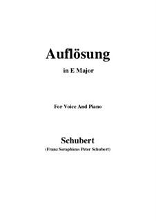 Auflösung (Dissolution), D.807: E Major by Франц Шуберт