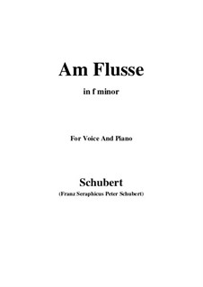 Am Flusse (By the River), D.160: F minor by Франц Шуберт
