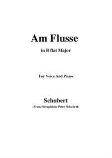 Am Flusse (By the River), D.766: B flat Major by Франц Шуберт