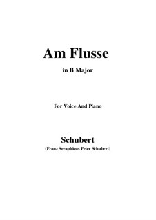 Am Flusse (By the River), D.766: B Major by Франц Шуберт