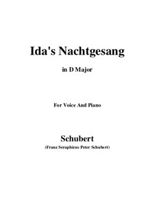 Idens Nachtgesang (Ida's Song to the Night), D.227: D Major by Франц Шуберт