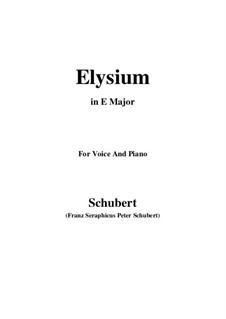 Elysium, D.584: E Major by Франц Шуберт