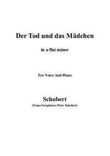 Девушка и смерть, D.531 Op.7 No.3: For voice and piano (a flat minor) by Франц Шуберт