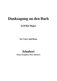 No.4 Благодарность ручью: Для голоса и фортепиано (B Flat Major) by Франц Шуберт