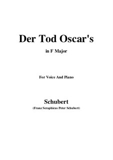 Der Tod Oscars (The Death of Oscar), D.375: Фа мажор by Франц Шуберт