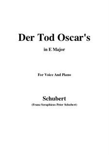 Der Tod Oscars (The Death of Oscar), D.375: E Major by Франц Шуберт