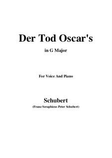 Der Tod Oscars (The Death of Oscar), D.375: G Major by Франц Шуберт