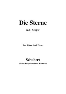 Die Sterne (The Stars), D.176: G Major by Франц Шуберт