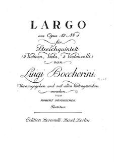 Ларго: Для струнного квинтета by Луиджи Боккерини