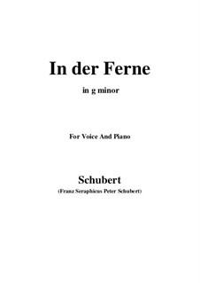 No.6 На чужбине: Для голоса и фортепиано (G minor) by Франц Шуберт