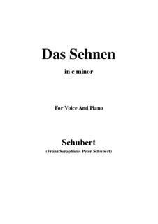 Das Sehnen (Longing), D.231 Op.172 No.4: C minor by Франц Шуберт