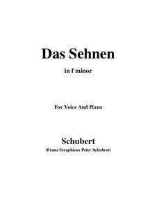 Das Sehnen (Longing), D.231 Op.172 No.4: F minor by Франц Шуберт