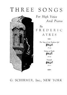 Три песни для голоса и фортепиано: Три песни для голоса и фортепиано by Frederic Ayres