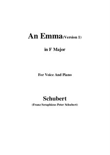An Emma, D.113 Op.58 No.2: First edition (F Major) by Франц Шуберт