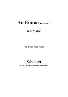 An Emma, D.113 Op.58 No.2: First edition (D Major) by Франц Шуберт