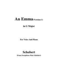 An Emma, D.113 Op.58 No.2: First edition (G Major) by Франц Шуберт