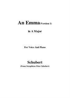 An Emma, D.113 Op.58 No.2: First edition (A Major) by Франц Шуберт