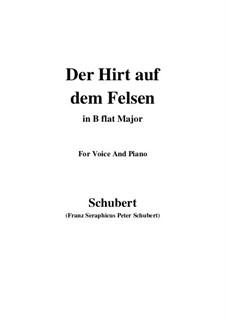 Пастух на скале, D.965 Op.129: Для голоса и фортепиано (B Flat Major) by Франц Шуберт