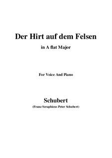 Пастух на скале, D.965 Op.129: Для голоса и фортепиано (A Flat Major) by Франц Шуберт