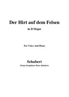 Пастух на скале, D.965 Op.129: Для голоса и фортепиано (D Major) by Франц Шуберт