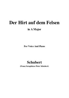 Пастух на скале, D.965 Op.129: Для голоса и фортепиано (A Major) by Франц Шуберт