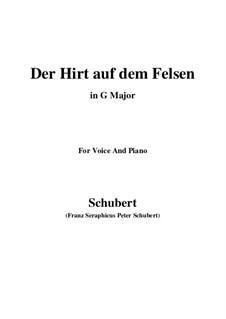 Пастух на скале, D.965 Op.129: Для голоса и фортепиано (G Major) by Франц Шуберт