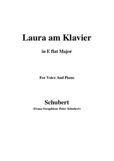 Laura at the Piano, D.388: First version (E flat Major) by Франц Шуберт