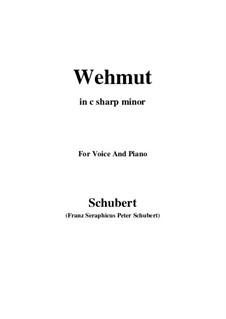 Wehmut (Melancholy), D.772 Op.22 No.2: C sharp minor by Франц Шуберт