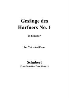 No.1 Wer sich der Einsamkeit ergibt: B minor by Франц Шуберт